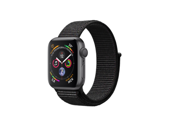 Apple Watch Sport Series 4 40mm Space Gray Aluminum Case with Black Sport Band