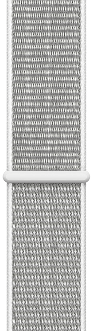 Apple Watch Sport Series 4 44mm Silver Aluminum Case with White Sport Loop